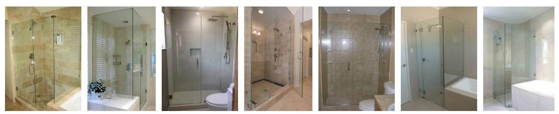 frameless glass bathroom selection