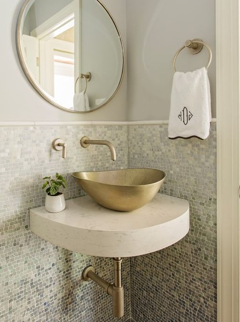 bronze bathroom vanity