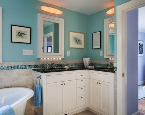 corner bathroom vanity remodel